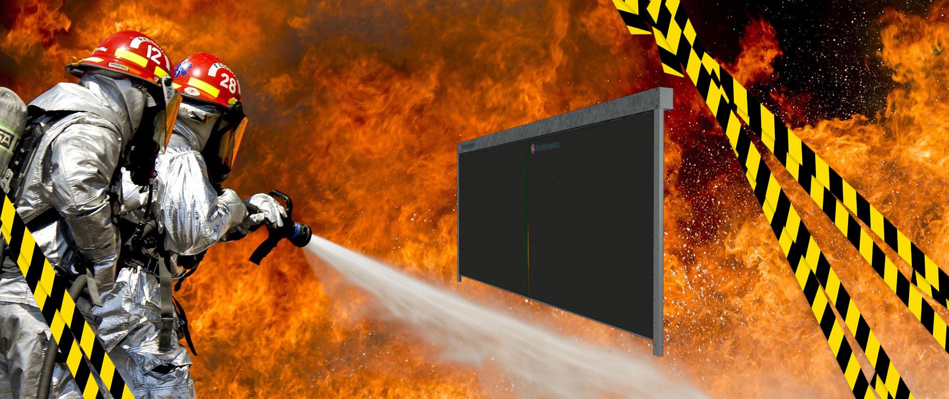 Противопожарные двери, противопожарные перегородки, противопожарные шторы.